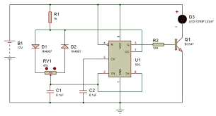 led dim circuit wiring diagram and ebooks • simple easy dimmer circuit using 555 ic for led strip lights rh instructables com lightolier led dim led dimmer