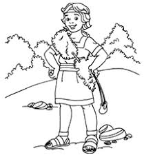 Small Picture Top 25 Free Printable David and Goliath Coloring Pages Online