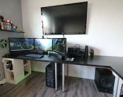 attractive gaming desk ikea throughout good desks for computer l shaped best pc majestic