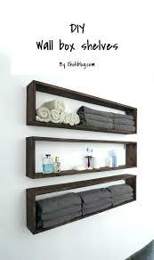 box shelves wall mounted bathroom shelves bathroom shelving awesome wooden box wall shelves wood wall mount