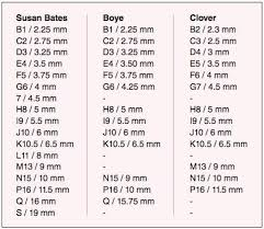Bates Socks Size Chart Image Result For Susan Bates Hooks To Mm Conversion Chart