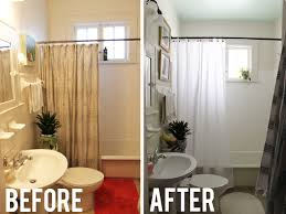Small Picture Interesting Small Bathrooms Before And After A Bathroom In Design