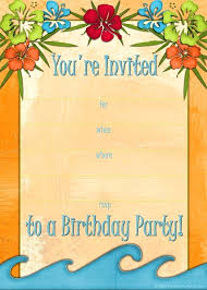 Hawaiian Theme Party Invitations Free Luau Invitations Templates