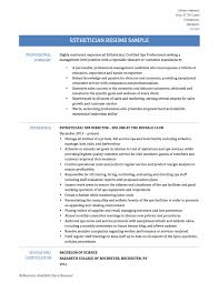 Resume 6 Sample Resume For Esthetician Student Clever Sample