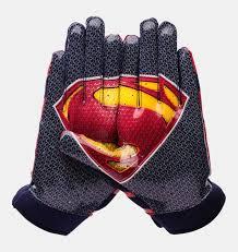 under armour youth football gloves. boys\u0027 ua f4 superman football gloves, midnight navy under armour youth gloves r