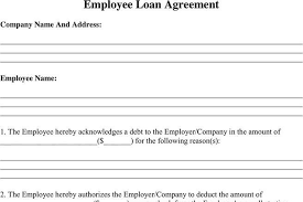 Company Loan To Employee Agreement 3 Employee Loan Agreement Free Download