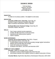 College Freshman Resume Samples Best Resume Collection