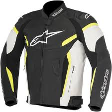 alpinestars gp plus r v2 airflow leather jacket clothing jackets motorcycle black white yellow