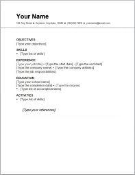 Write Simple Resume Under Fontanacountryinn Com