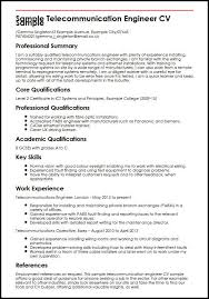 Telecommunication Resume Sample Telecommunication Engineer Cv Sample Myperfectcv