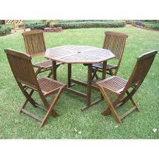international caravan highland acacia 5 pc folding outdoor patio dining set com