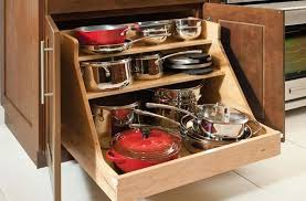 pots and pans storage simple kitchen ideas with wooden base roll out pots pans organizer pot pots and pans storage