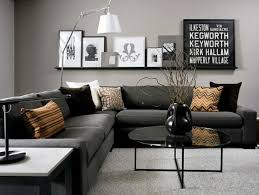 modern furniture living room color. modern black and grey living room. love the dark couch with lighter wall furniture room color