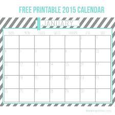 Printable Monthly Calendar Templates 2015 One Page 2015 Calendar Template Neerja Co