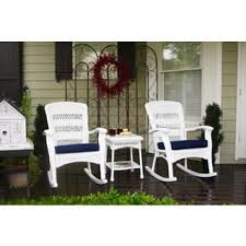 White Wicker Patio Furniture  Shop The Best Outdoor Seating White Resin Wicker Outdoor Furniture