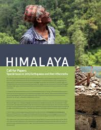 special issue on 2015 earthquakes aftermath himalaya journal