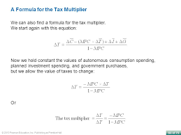 a formula for the tax multiplier