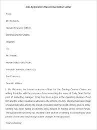 Recommendation Letter Request Interesting Job Application Recommendation Letter Kordurmoorddinerco