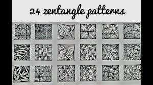 Official Zentangle Patterns Magnificent Design