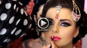asian bridal hairstyle dailymotion indian stani bridal makeup tutorial south asian