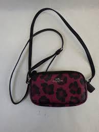 las small leather designer coach purse