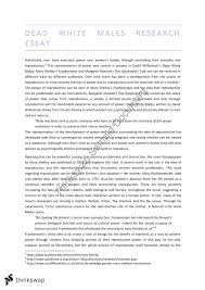 dead white males research essay year wace literature dead white males research essay