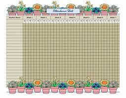 Attendant Sheet Office Attendance Sheet Template