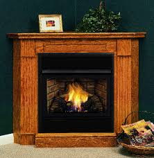 symphony 32 inch vent free gas fireplace remote ready with corner surround and hearth
