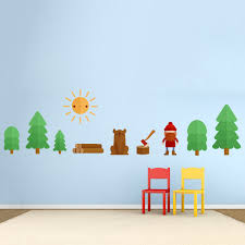 lumberjack forest printed wall decal lumberjack forest printed wall decal lumberjack wall decal kit