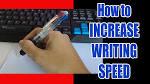improve handwriting speed