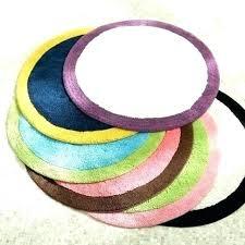 circle bath rug rugs colorful spot on mat shaped large circular bathroom