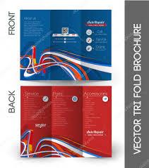 Tri Fold Brochure Design Stock Vector Redshinestudio