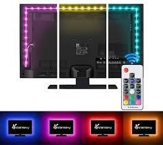 Vansky Bias Lighting Manual Vansky Tv Backlight Kit Bias Lighting For Tv Led Strip Lights Usb Powered Led Light Strip Rf Remote 30 55 Inch Tv Desktop Pc Reduce Eye Strain