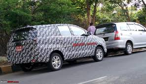 SCOOP! 2016 Toyota Innova spotted testing in Bangalore. More pics ...