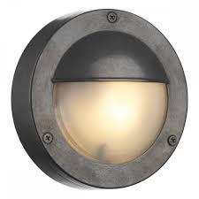Outdoor Eyelid Lights Bembridge Round Oxidised Outdoor Bulkhead Light