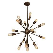 access 55542 brz flux 16 light pendant bronze