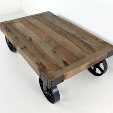 Industrial Coffee Table Industrial Coffee Table On Wheels