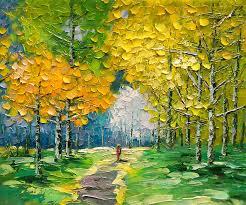 landscape painting palette knife landscape oil painting by enxu zhou