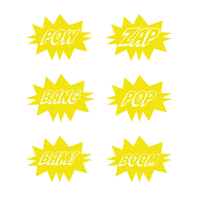 The examples below embed the svg code directly into the html code. Superhero Pow And Bams Svg Clipart Wunder Bear Creations