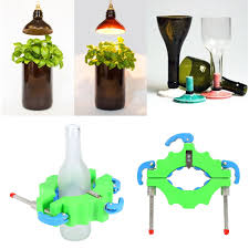 create functional art while recycling glass bottles and jars with this dependable bottle cutter that is simple to use and creates precise cuts around the