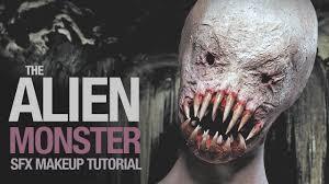alien monster sfx makeup tutorial