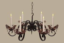 wrought iron chandelier candles