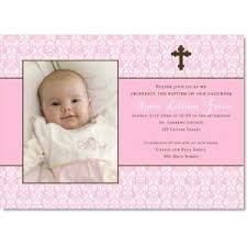 Imprintable Baptism Invitations Personalized Baptism Photo Invitations In Pink Sets Of 24 On Popscreen