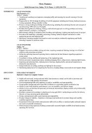 Lead Engineer Resume Samples | Velvet Jobs
