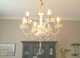 brass chandelier makeover best collection of update a with white paint fabric and crystals dining room brass chandelier makeover