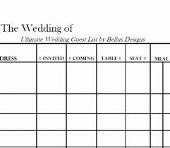 wedding list spreadsheet best wedding guest list spreadsheet google doc printable download