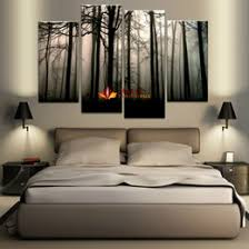 4 panel large canvas art modern abstract hd canvas print home decor wall art painting picture dark forest landscape on panel wall art review with large multi panel wall art online shopping large multi panel wall