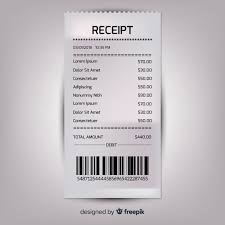 Receipt Template Collection With Realistic Design Vector