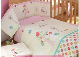 kid twin sheet set embroidery bird flowers tree baby bedding set pink 100 cotton crib