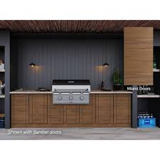 Weatherstrong Miami Teak 17 Piece 121 25 In X 34 5 In X 28 In Outdoor Kitchen Cabinet Set Wse120wm Mtk The Home Depot